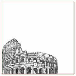 Italy: Colosseum 12 x 12 Paper