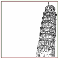 Italy: Leaning Tower 12 x 12 Paper