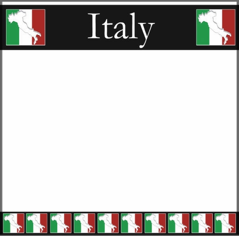 Italy Map 12 x 12 Paper
