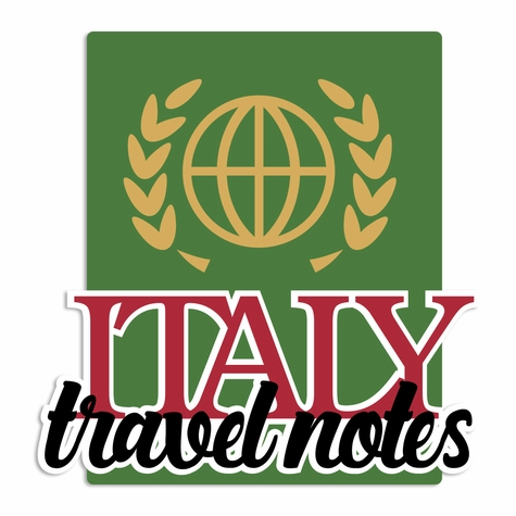 Italy: Travel Notes Laser Die Cut