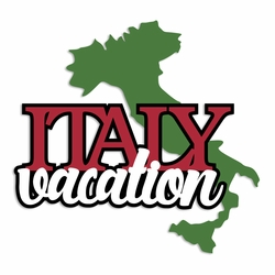 Italy: Vacation Laser Die Cut