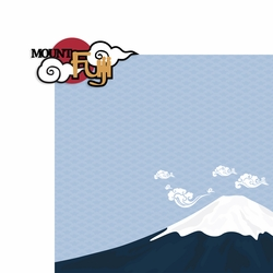Japan: Mount Fuji 2 Piece Laser Die Cut Kit