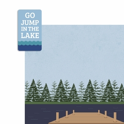 Jump in the Lake 2 Piece Laser Die Cut Kit