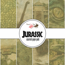 Jurassic Assorted 12 x 12 Paper Pack
