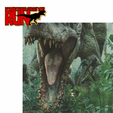 Jurassic World: If Something Chases You… Run! 2 Piece Laser Die Cut Kit