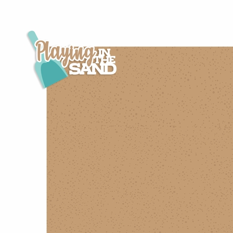 Just Beachy: Playing in the Sand 2 Piece Laser Die Cut Kit