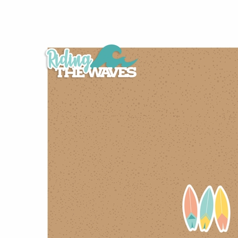 Just Beachy: Riding the waves 2 Piece Laser Die Cut Kit