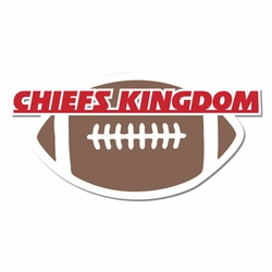 Kansas City Chiefs: Chief Kingdom Laser Die Cut