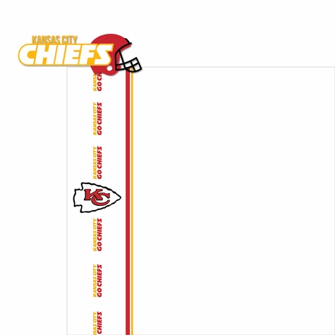Kansas City Chiefs: Go Chiefs 2 Piece Laser Die Cut Kit