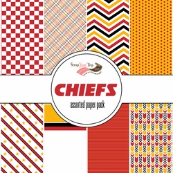 Kansas City Chiefs Pattern 12 x 12 Paper Pack