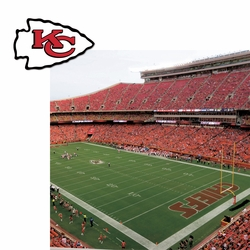 Kansas City Chiefs: Stadium and Logo 2 Piece Laser Die Cut Kit