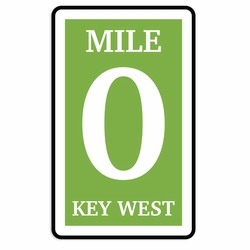 Key West: Mile 0 Laser Die Cut