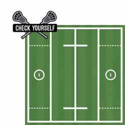 Lacrosse: Check Yourself 2 Piece Laser Die Cut Kit