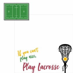 LaCrosse: Play 2 Piece Laser Die Cut Kit