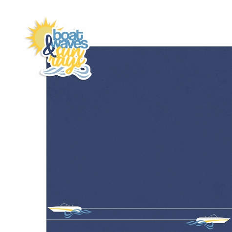 Lake Days: Boat waves and Sun rays 2 Piece Laser Die Cut Kit
