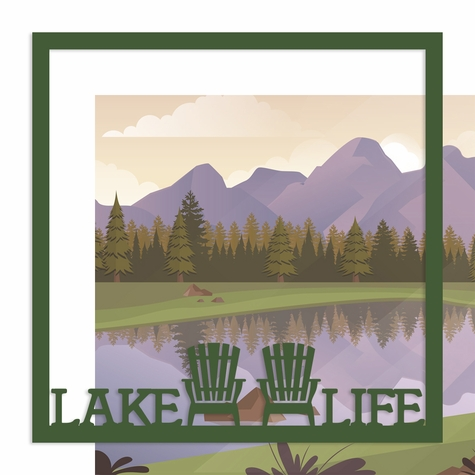 Lake Life 12 x 12 Overlay Quick Page Laser Die Cut