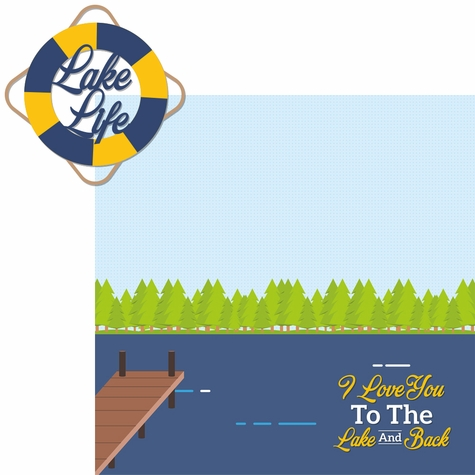 Lake Life: Lake Life 2 Piece Laser Die Cut Kit
