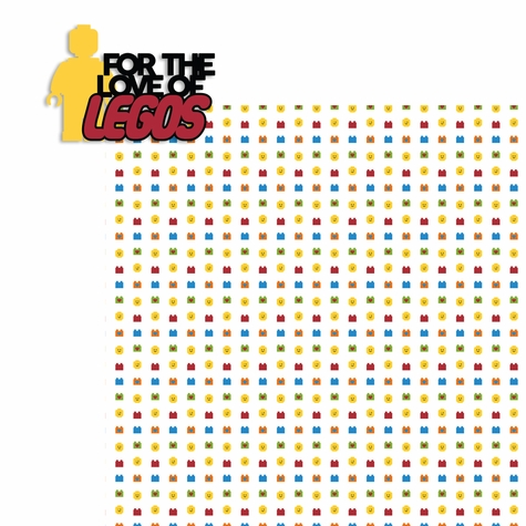 Legoland: For the Love of Legos 2 Piece Laser Die Cut Kit