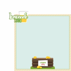Lemonade: Lemonade Stand 2 Piece Laser Die Cut Kit