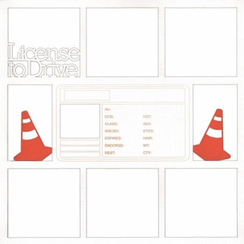 License To Drive 12 x 12 Overlay Laser Die Cut