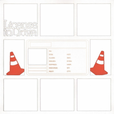 2SYT License To Drive 12 x 12 Overlay Laser Die Cut