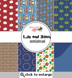 Lilo and Stitch Assorted 12 x 12 Paper Pack