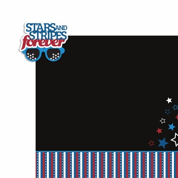 Live Free: Stars and Stripes 2 Piece Laser Die Cut Kit