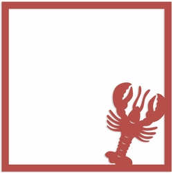 Lobster 12 x 12 Overlay Laser Die Cut