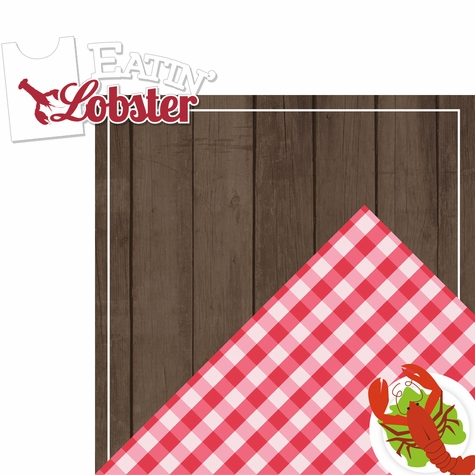 Lobsterbake: Eatin' Lobster 2 Piece Laser Die Cut Kit