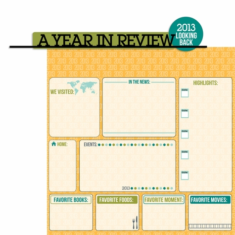 2SYT Looking Back: 2013 A Year In Review 2 Piece Laser Die Cut Kit