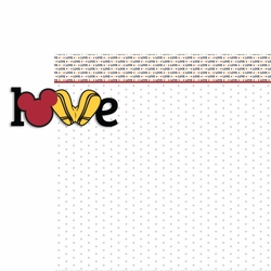 Love 2 Piece Laser Die Cut Kit
