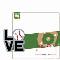 Love Sports: Baseball 2 Piece Laser Die Cut Kit
