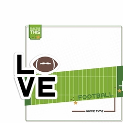 Love Sports: Football 2 Piece Laser Die Cut Kit