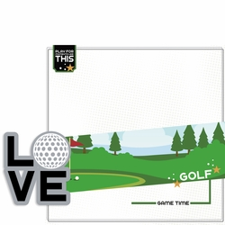 Love Sports: Golf 2 Piece Laser Die Cut Kit