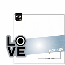 Love Sports: Hockey 2 Piece Laser Die Cut Kit