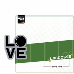 Love Sports: Lacrosse 2 Piece Laser Die Cut Kit