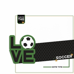 Love Sports: Soccer 2 Piece Laser Die Cut Kit
