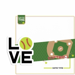 Love Sports: Softball 2 Piece Laser Die Cut Kit