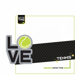 Love Sports: Tennis 2 Piece Laser Die Cut Kit