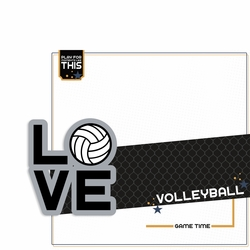 Love Sports: Volleyball 2 Piece Laser Die Cut Kit