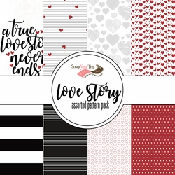 Love Story Assorted 12 x 12 Paper Pack
