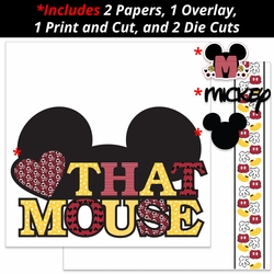Love that Mouse 2 Page Print and Cut