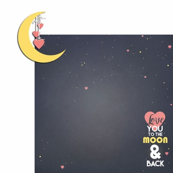 Love you to the moon 2 Piece Laser Die Cut Kit