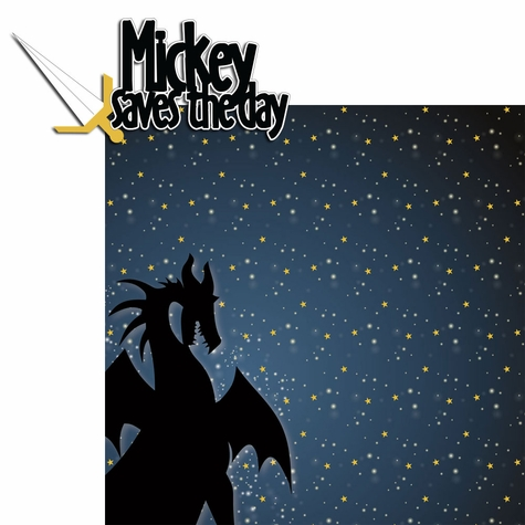 Magic At Night: Mickey Saves The Day 2 Piece Laser Die Cut Kit