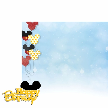 Magic Moments: Mickey Birthday 2 Piece Laser Die Cut Kit