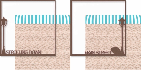 Main Street: Strolling Down Main Street Double 12 x 12 Overlay Quick Page Laser Die Cut