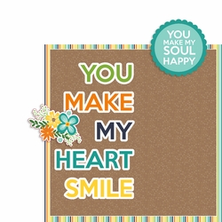 Make my Heart Smile 2 Piece Print and Cut Kit
