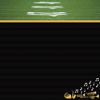 Marching Band: Band Plays 12 x 12 Paper