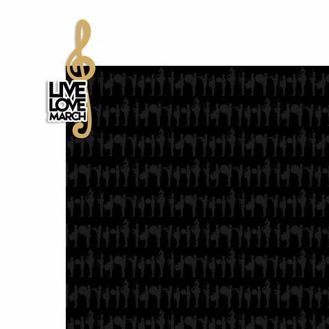 Marching Band: Live Love March 2 Piece Laser Die Cut Kit