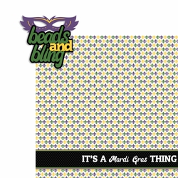 Mardi Gras: Beads and Bling 2 Piece Laser Die Cut Kit